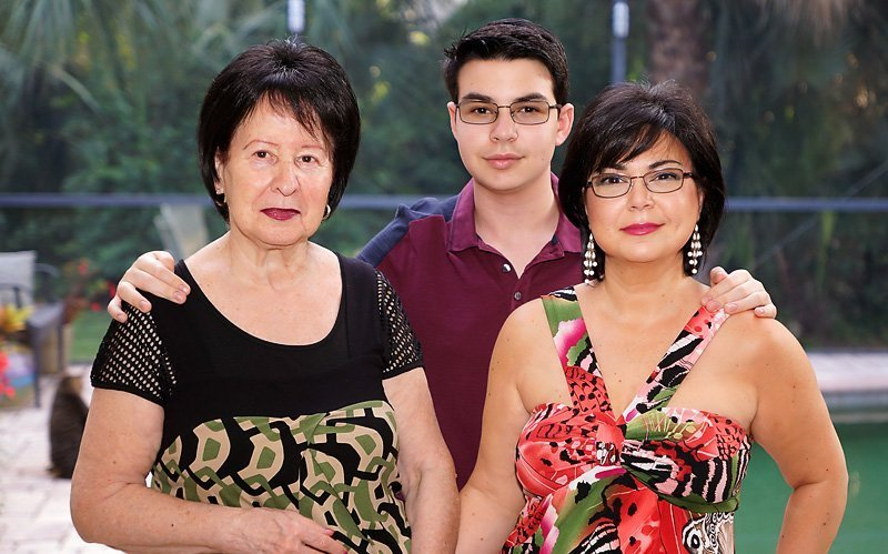 With my Mother-in-law and Son