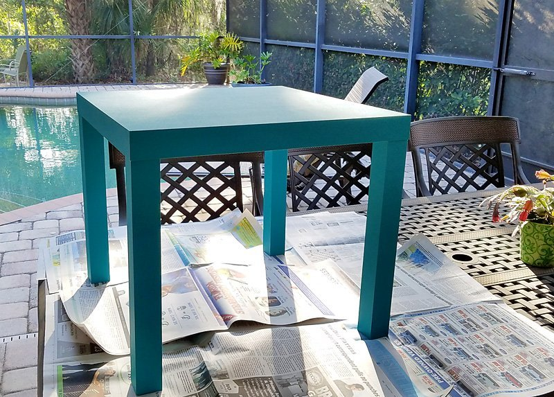 Painting projects: IKEA side table