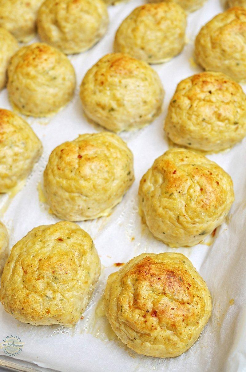 Chicken Parmesan Meatballs baked