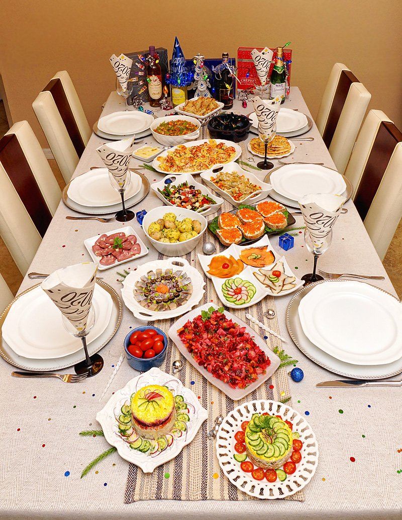 New Year's Dinner 2020 tablescape