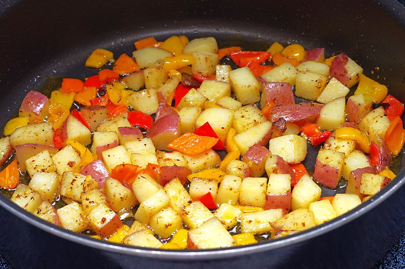 chicken stew potatoes prep