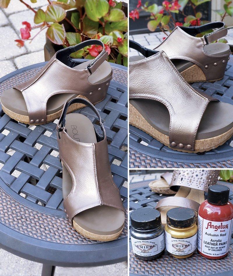 Bronze shoes