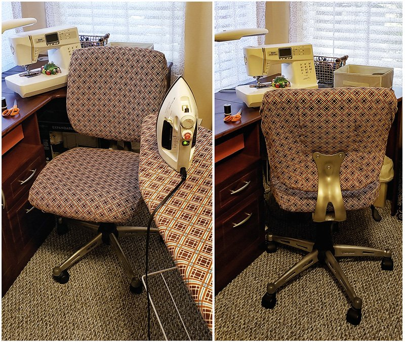 Craft room chair reupholstered