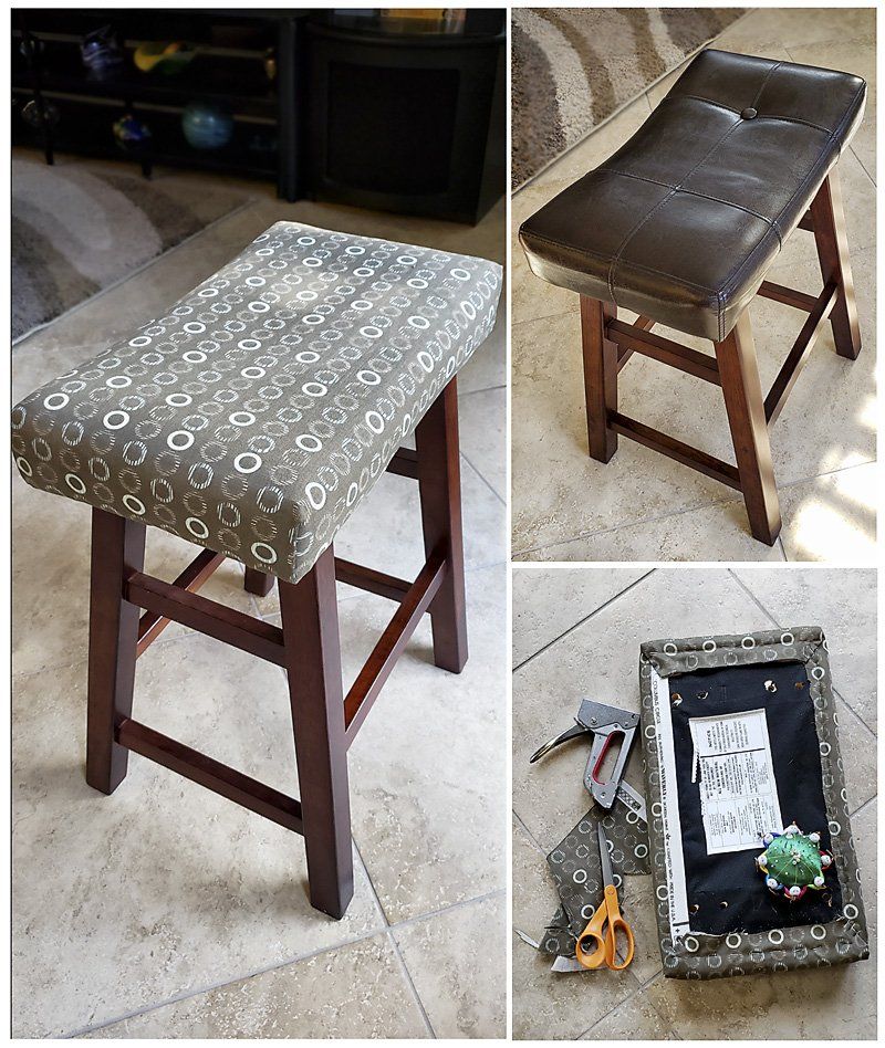 Kitchen chair reupholstered