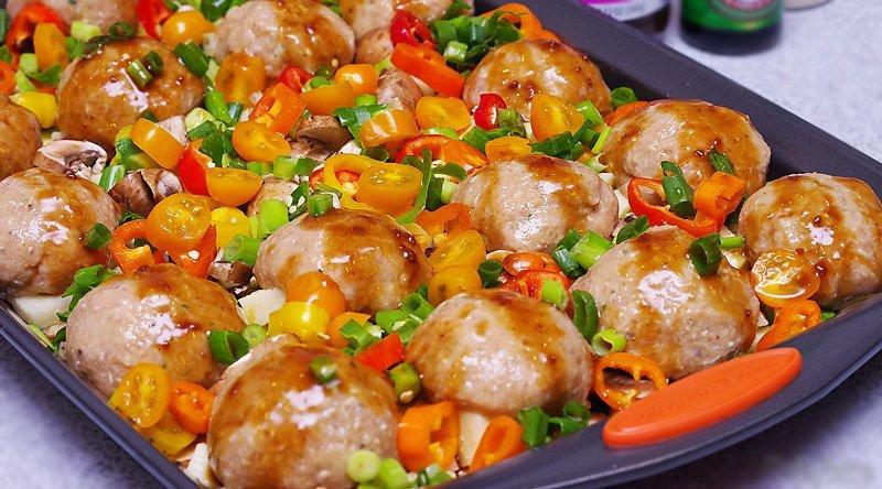 Baked Asian Chicken Meatballs