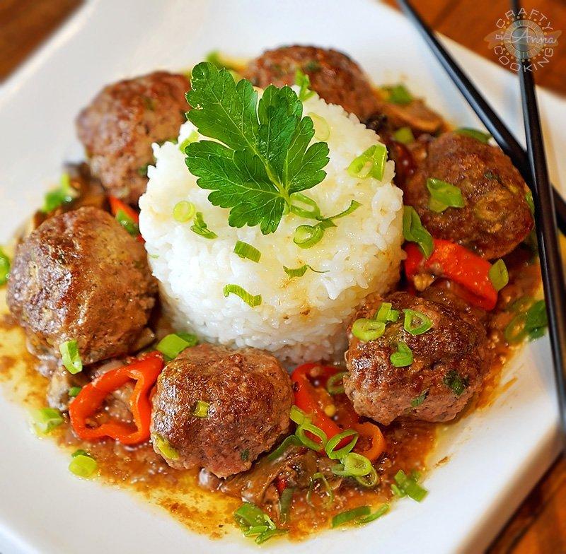 Teriyaki Beef Meatballs