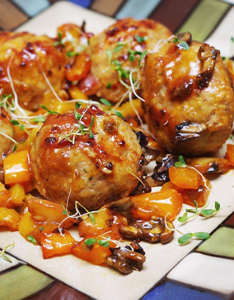 Baked Moist Asian Meatballs