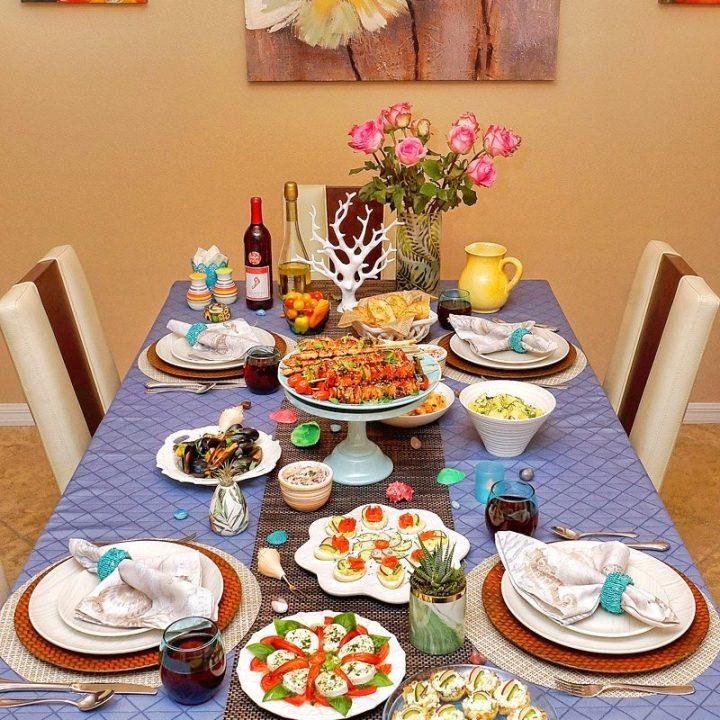 Alla's 77th Birthday Dinner table