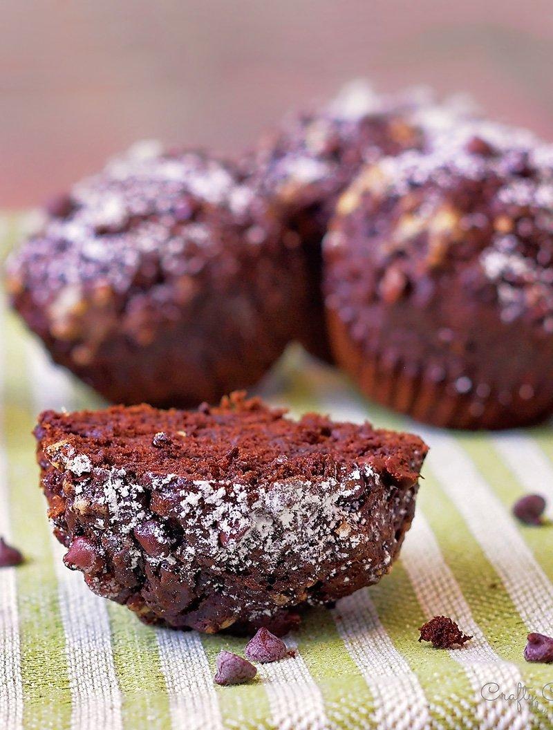 Chocolate Banana Muffins side
