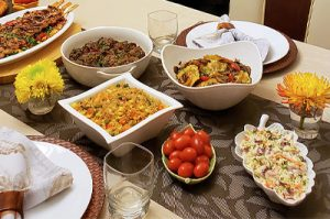 Father-in-law's 82nd Birthday Dinner, Tablescape and Recipes