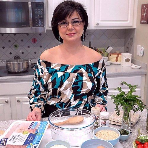 Anna cooks Chicken Parmesan Meatloaf
