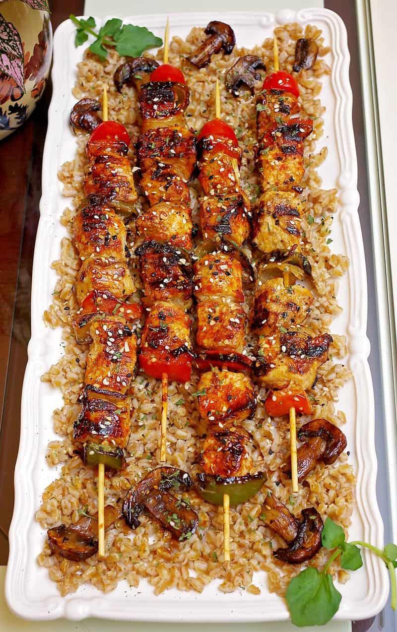 Chicken Kabobs on Cuisinart Griddler
