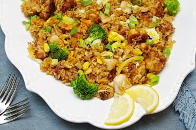 Easy Teriyaki Chicken Fried rice dinner thumb