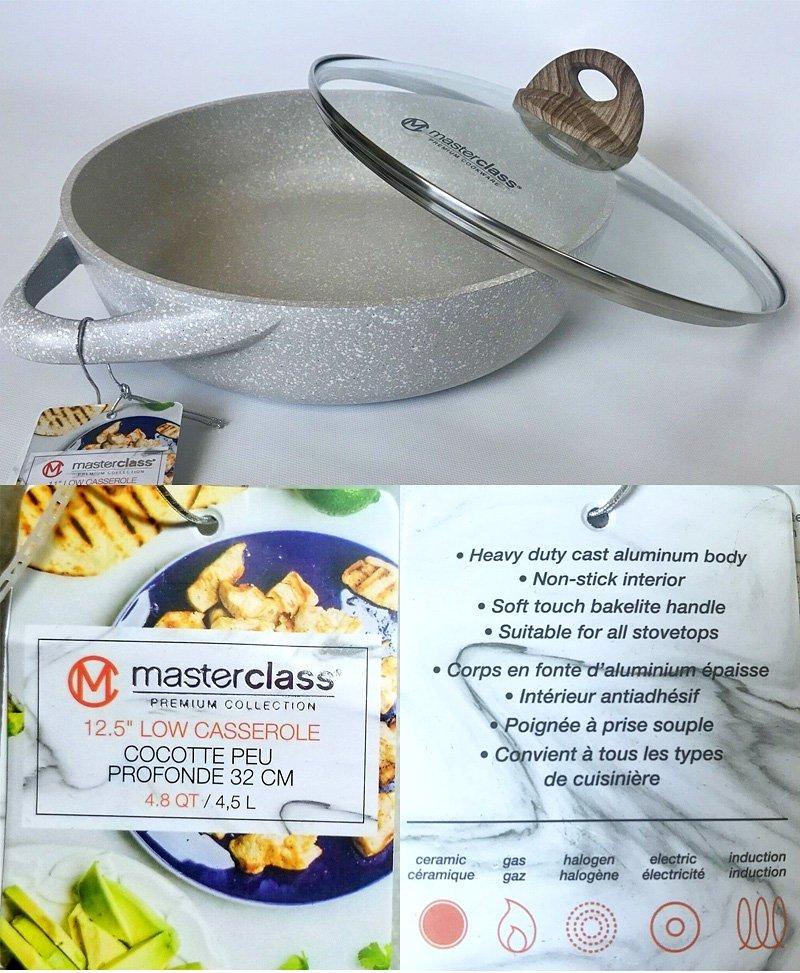 Masterclass premium 12.5 low casserole pan