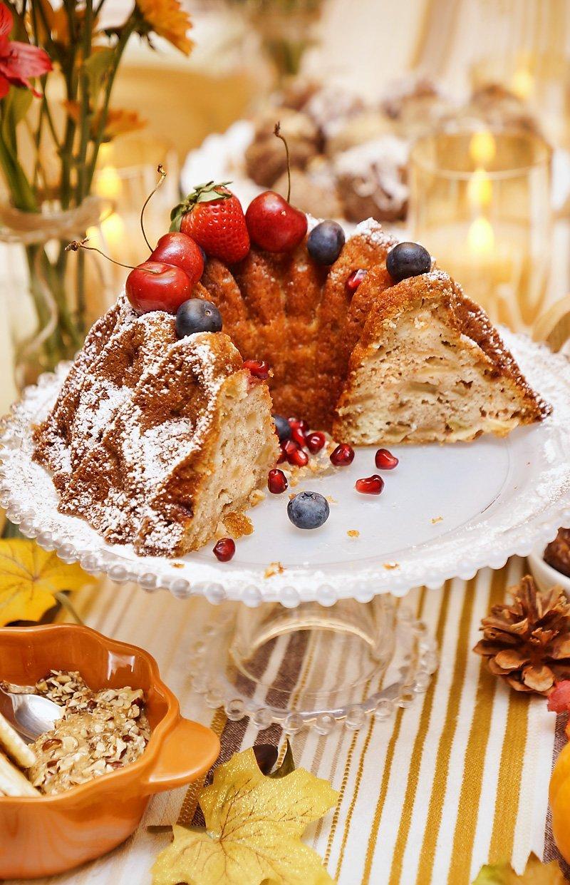 Sharlotka Apple Cake inside