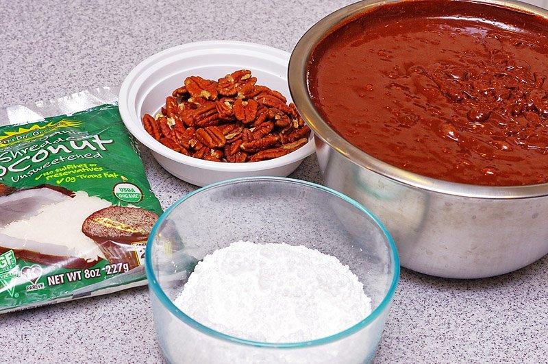 Chocolate Brownie Crinkle Cookies prep 2