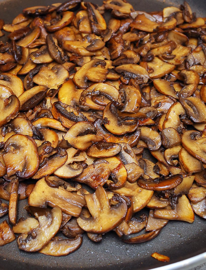 caramelized mushrooms