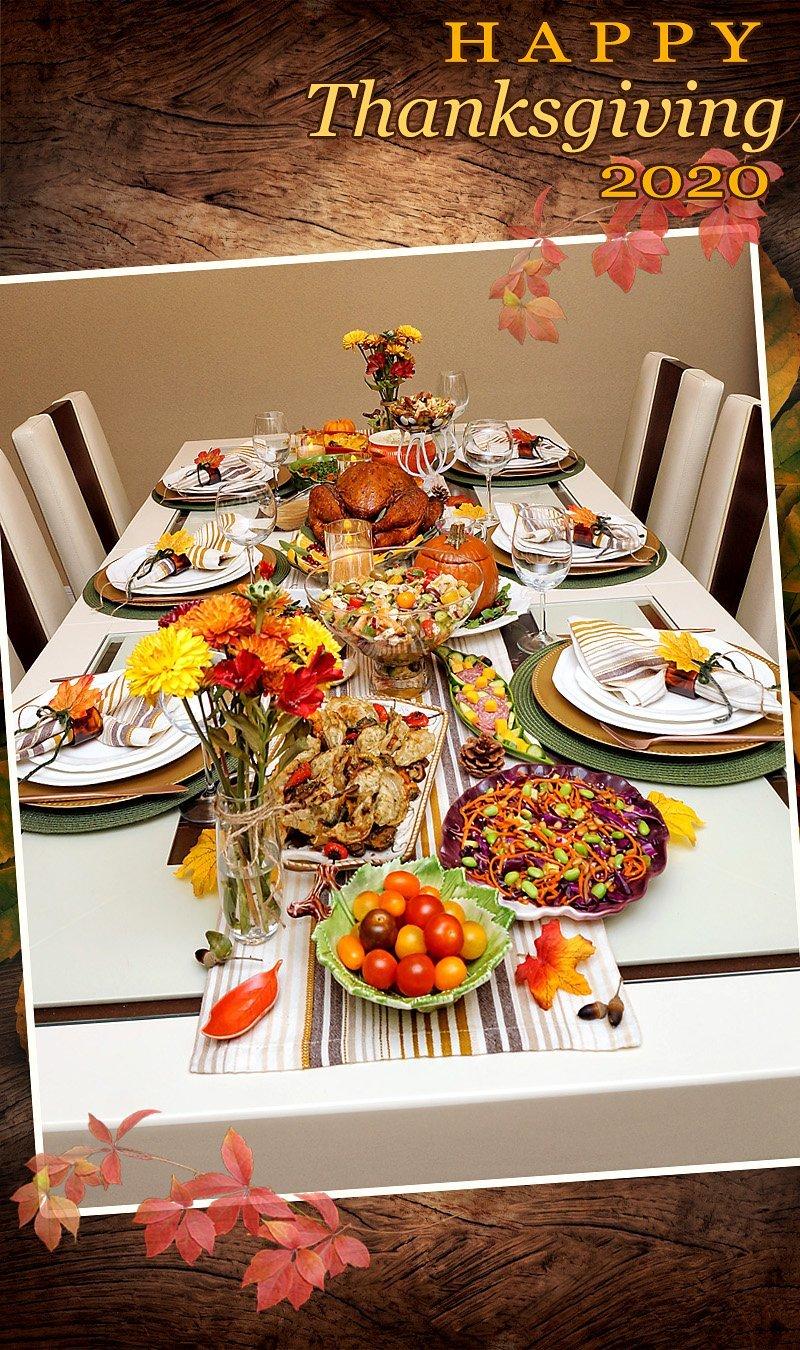 Thanksgiving Dinner Table 2020