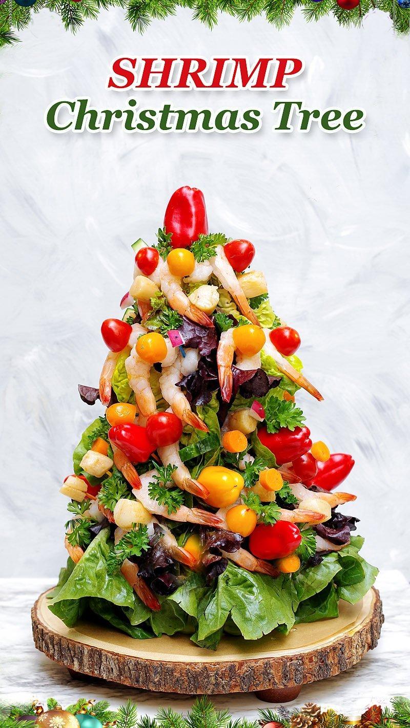 Shrimp Christmas Tree ready