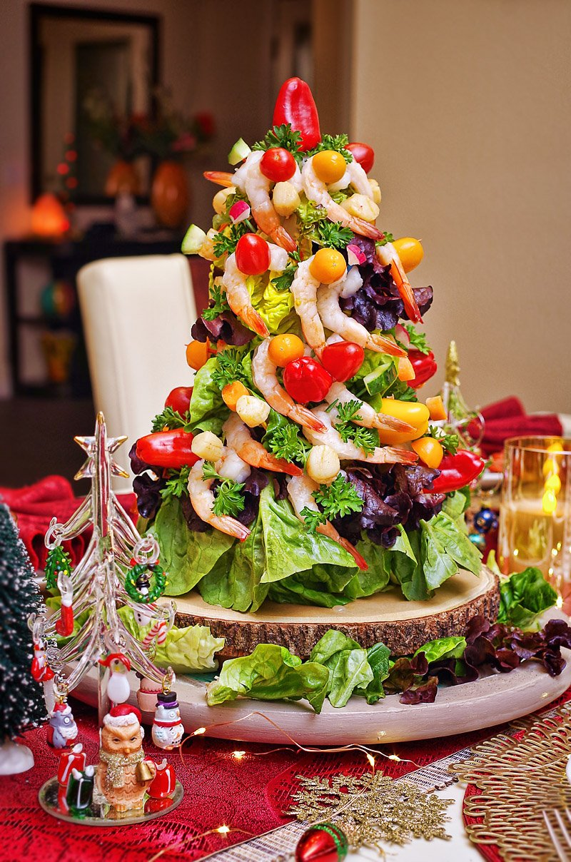 Christmas Shrimp and Scallop tree