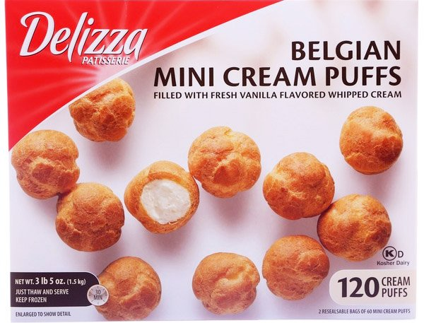 Delizza Patisserie Belgian Mini Cream Puffs