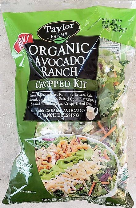 Organic Avocado ranch salad Costco