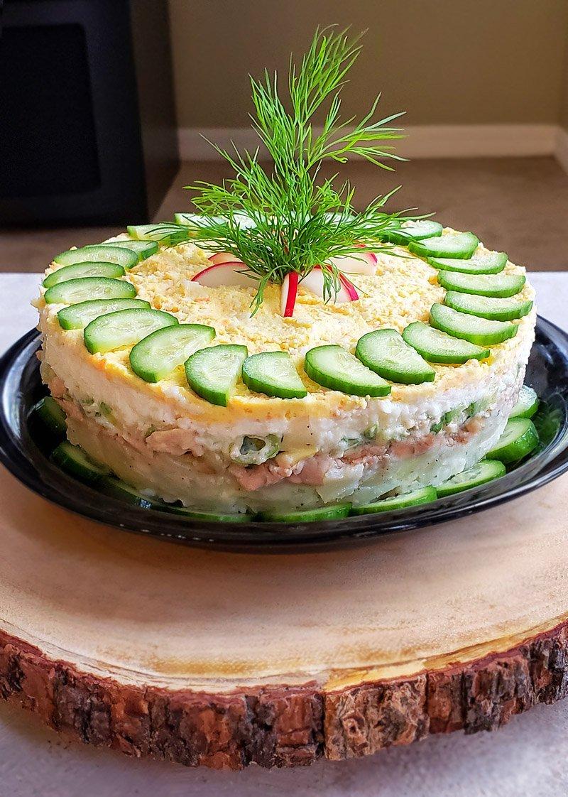 Cod Liver Salad ready
