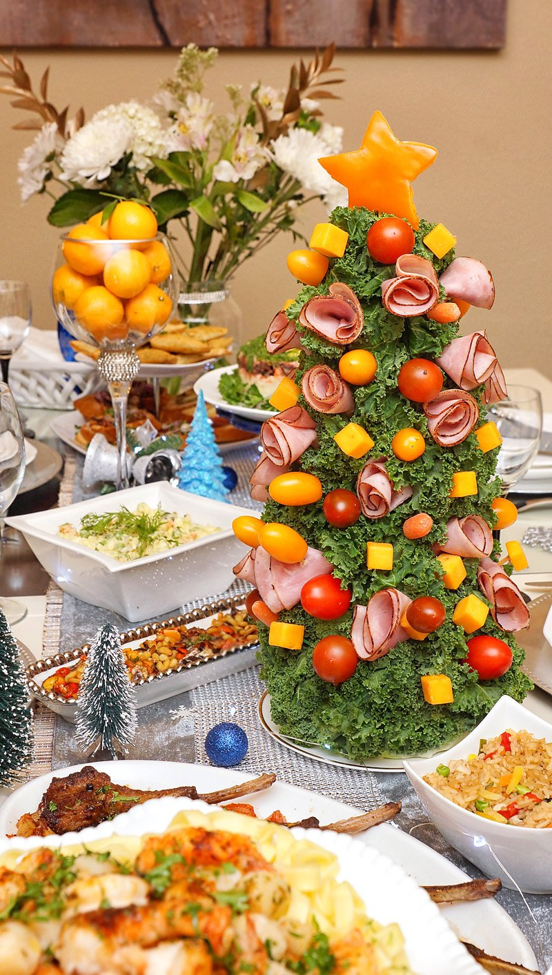 Ham and Cheese Party Tree
