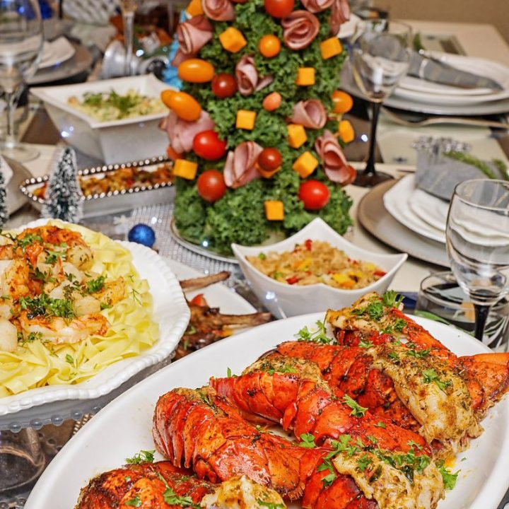 New Years 2021 table lobster tails