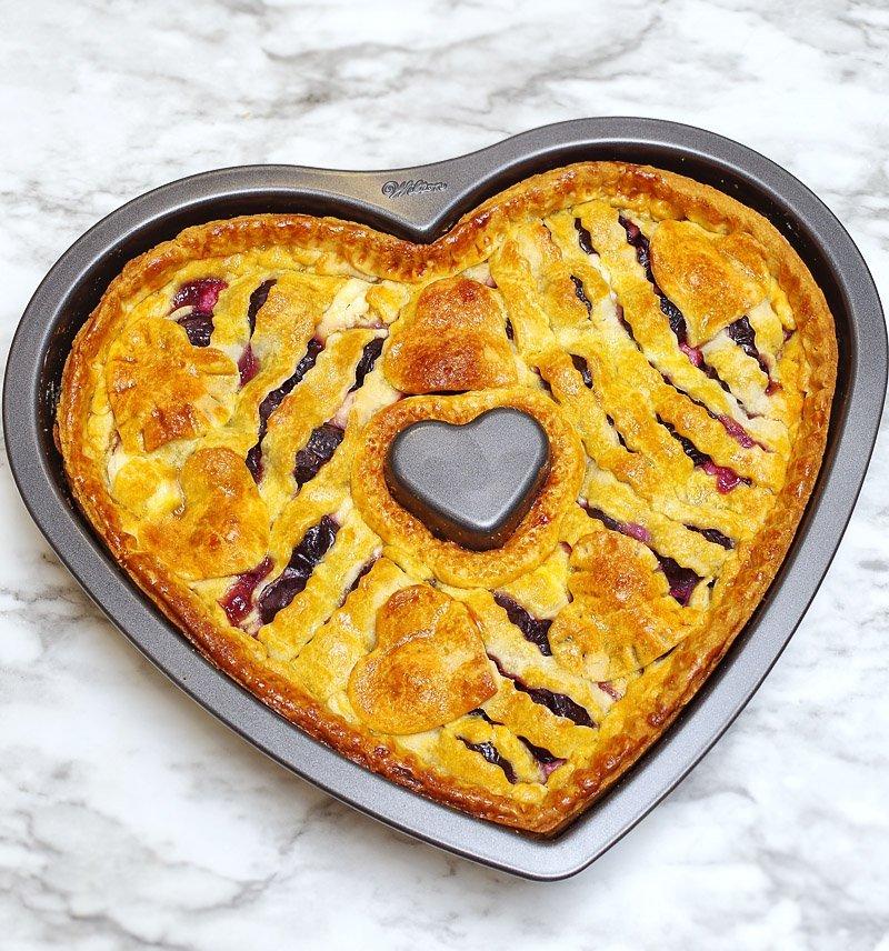 Cherry Cream Cheese pie baked