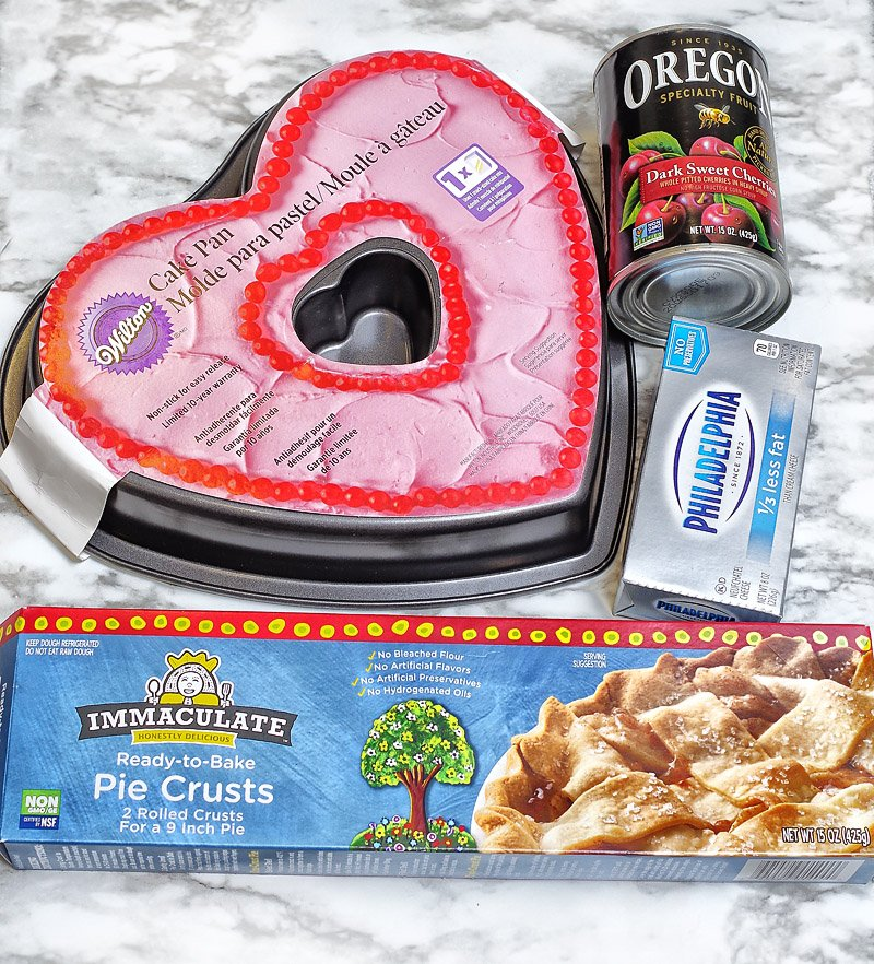 Cherry Cream Cheese pie ingredients