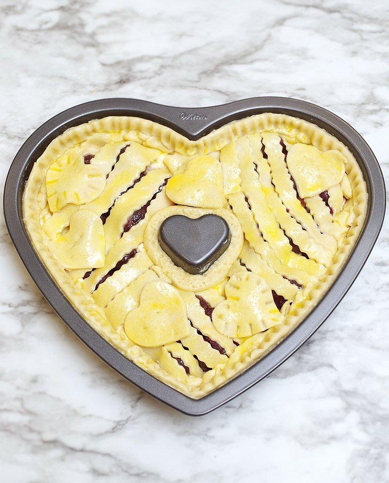 Cherry Cream Cheese pie prep