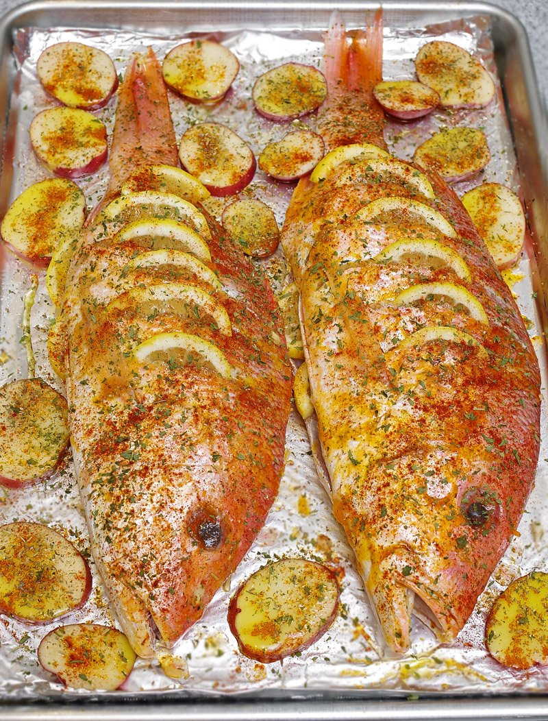 Red Snapper ready to bake