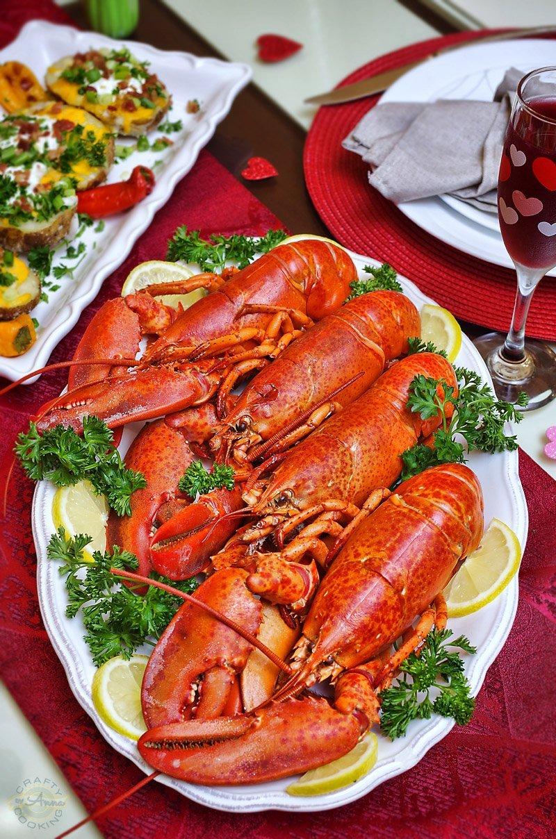 Valentines lobsters