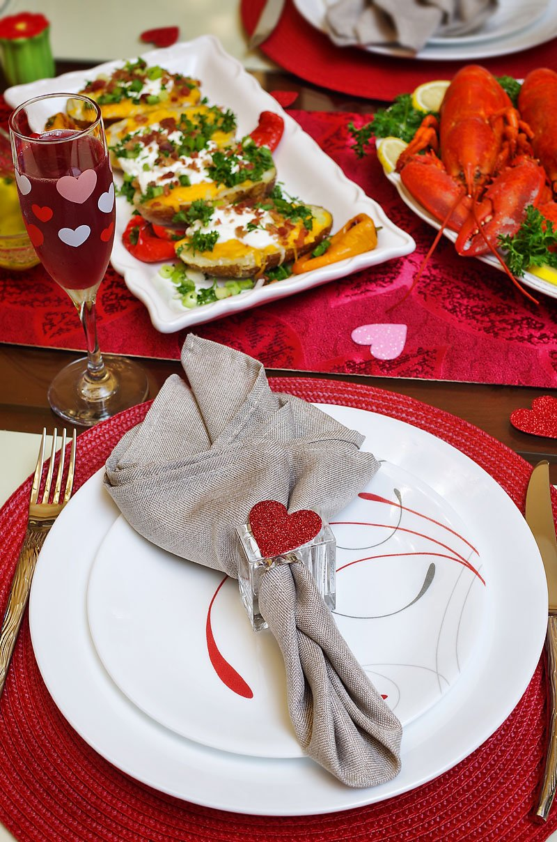 Valentines table setting 2