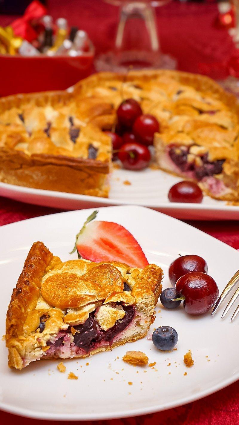 Cherry Cream Cheese pie inside