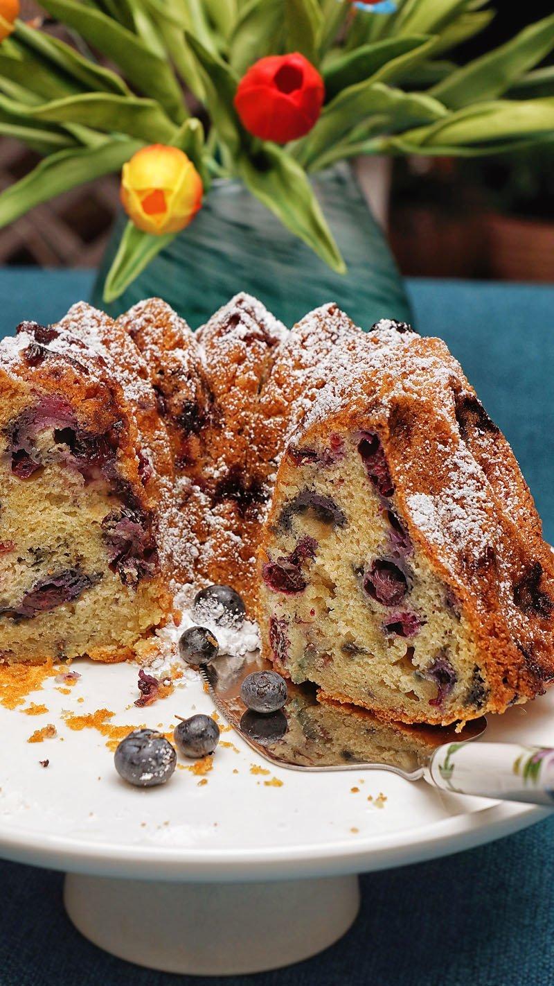 Blueberry cake inside