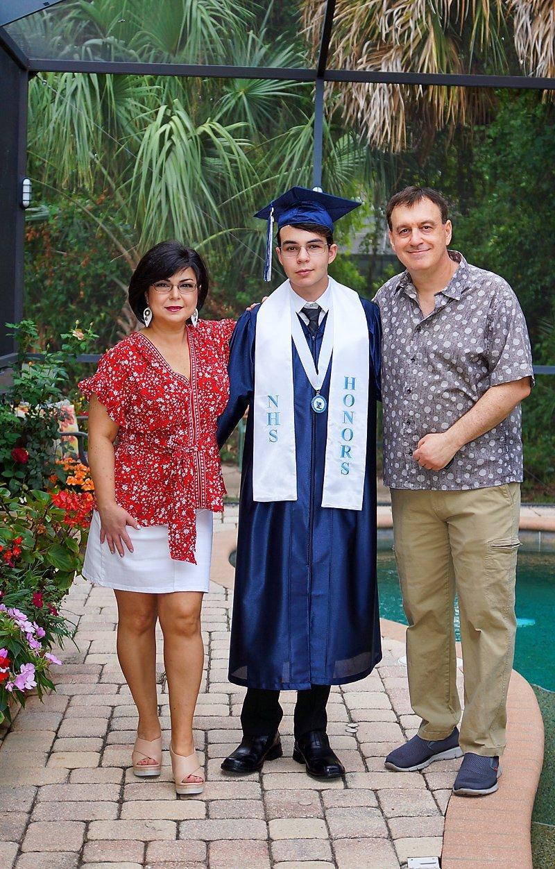HS Graduation 2021 family