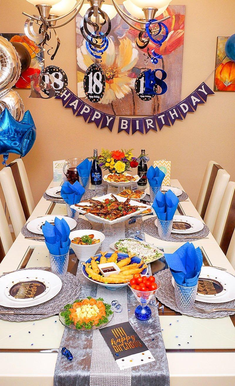 Joshua's 18th Birthday Dinner table