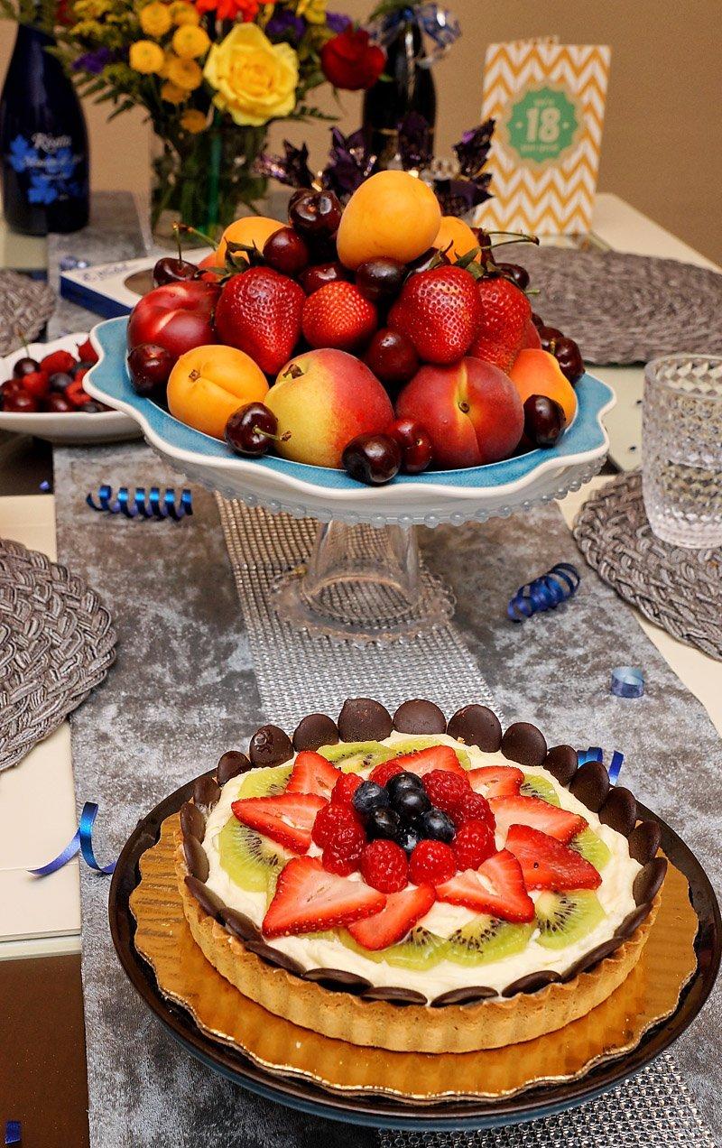 European Cream Triple Berry Tart