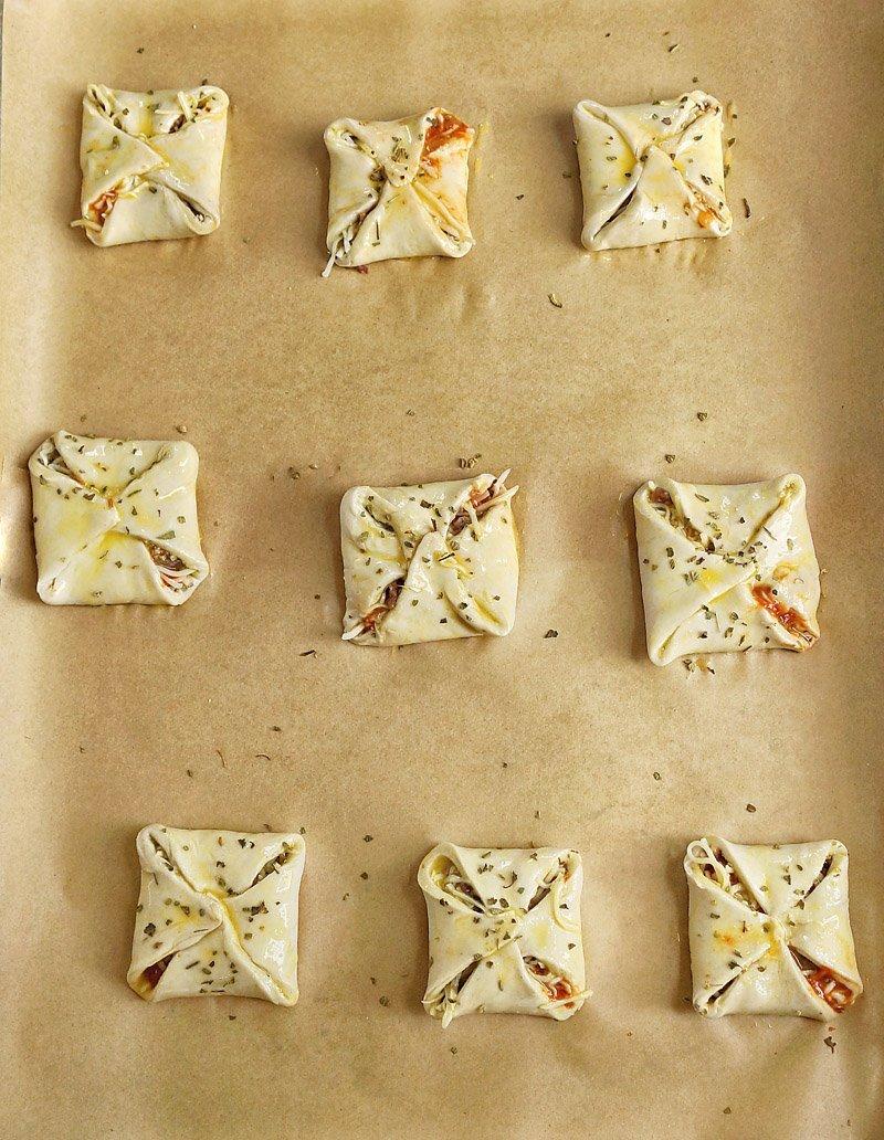 Savory Puff Pastry Pizza Bites prep 2