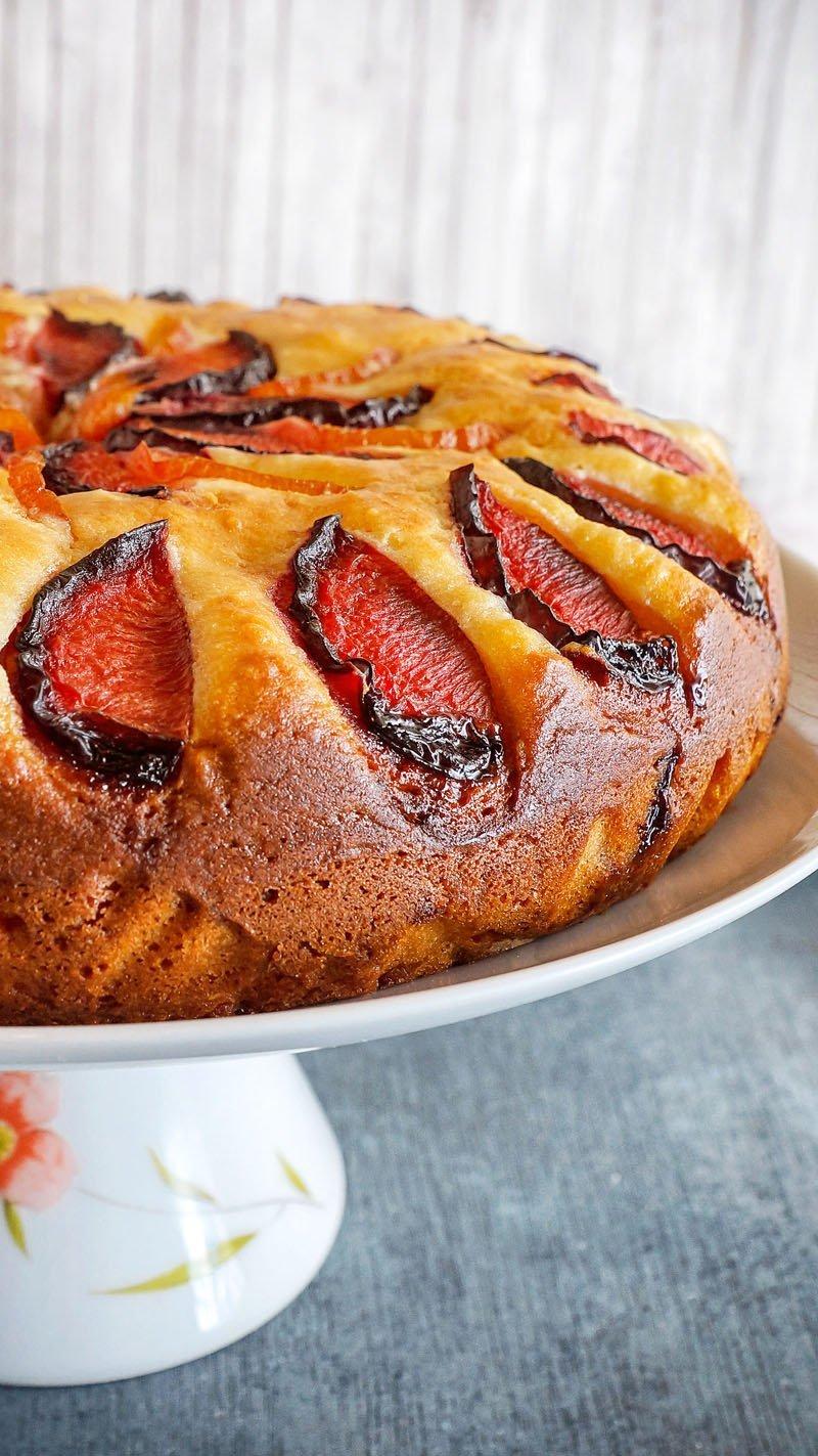 Plum Ricotta Cake side
