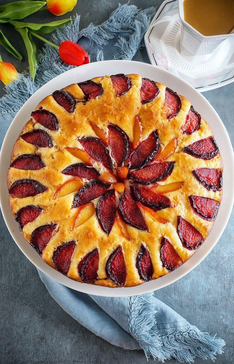 PlumRicotta Cake