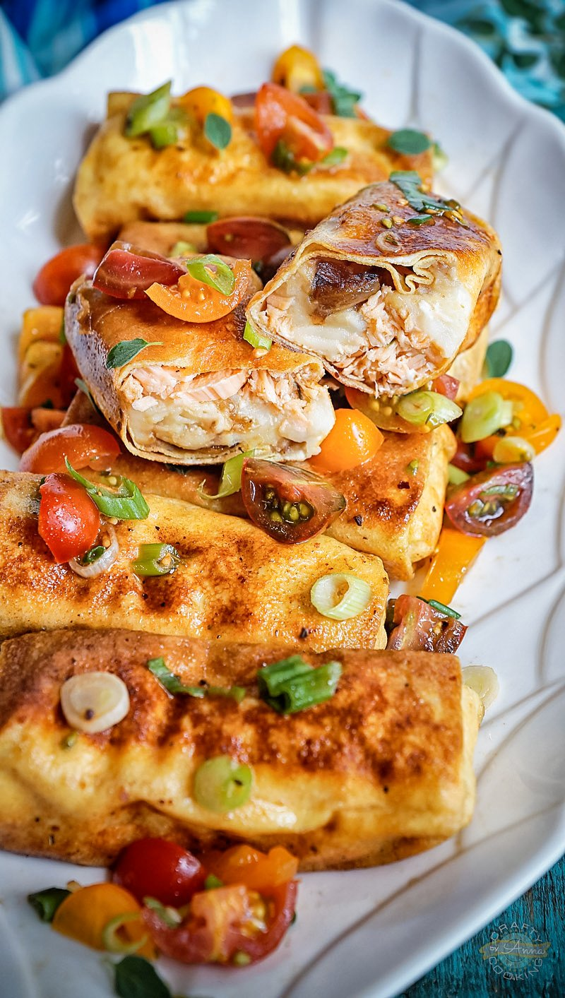 Crepini with Salmon and Potatoes inside