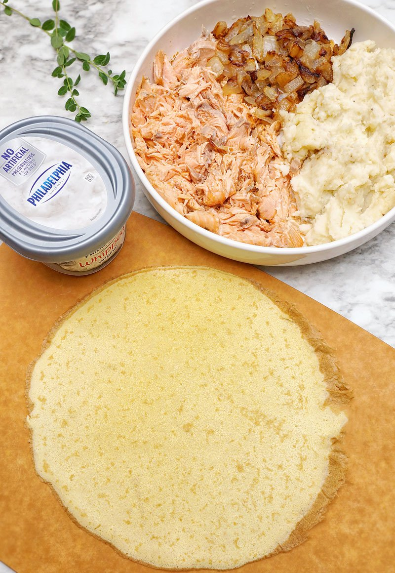 Crepini with Salmon and Potatoes prep1
